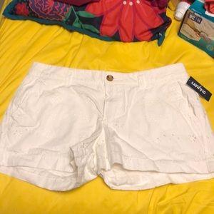White Eyelet Old Navy Shorts